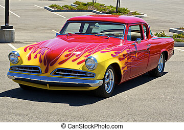 1954 Red Coupe 4