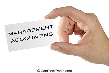 Business card for management accounting