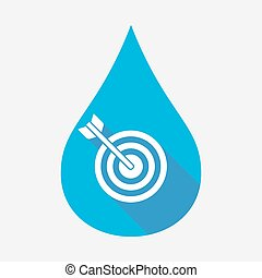 Isolated water drop with a dart board - Illustration of an...