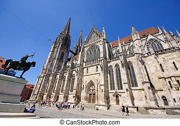 Regensburg, Germany - Regensburg Cathedral. One of the World...