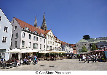 Regensburg, Germany - Neupfarrplatz. One of the World...