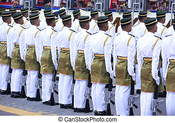 Guard of Honour mounted by the Malaysian Armed Forces.