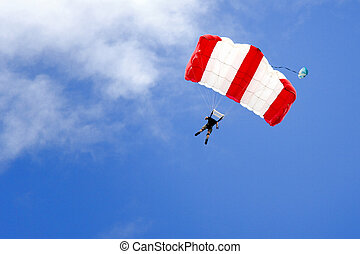 Base Jumping - Image of a daring base jumper in action