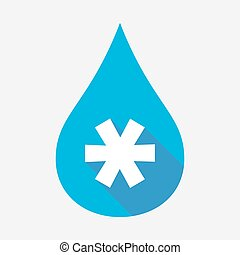Isolated water drop with an asterisk - Illustration of an...