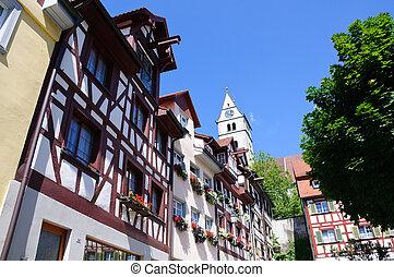 Meersburg, Germany - Old Town of Meersburg in Baden...