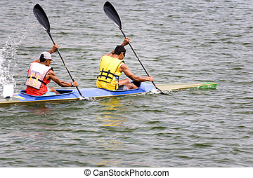 Canoeing - Image of canoeing competitors in action