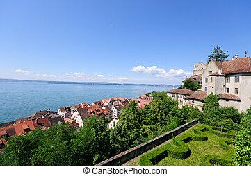 Meersburg, Germany - Old Town of Meersburg and Lake...
