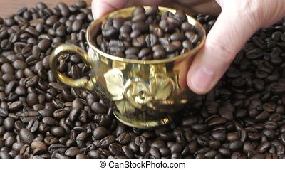 Gold cup brazilian coffee beans