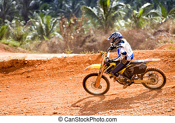 Motocross - Image of a motocross participant in action