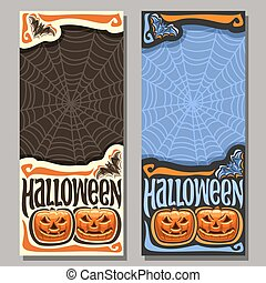 Vector vertical banner for Halloween holiday