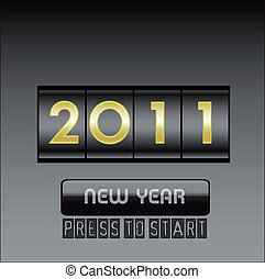 New Year counter ,vector illustration