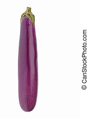 Brinjal Isolated - Isolated image of a fresh brinjal against...