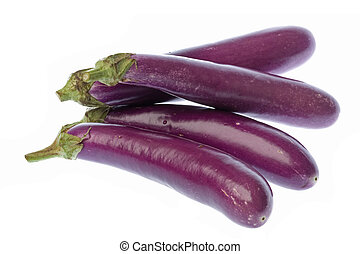 Brinjals Isolated