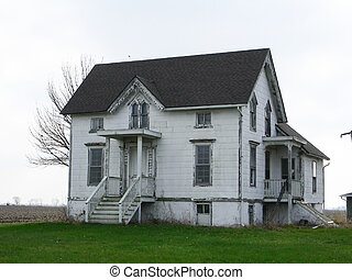 Abandoned House - An old abandoned house in the country...
