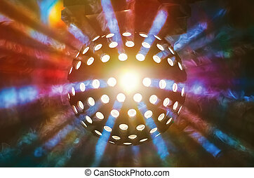 Disco Ball Light in the Nigt Club