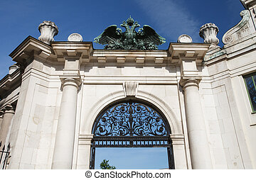 gate to the Burggarten park, part of the Hofburg imperial palace in Vienna