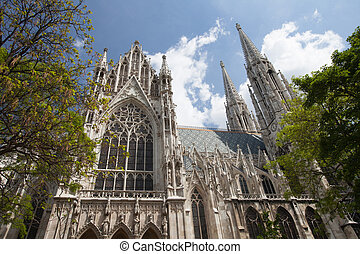 The Votive Church (Votivkirche) is a neo-Gothic church in...