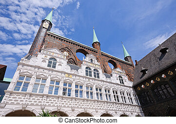 Luebeck, Germany - Town Hall of the Hanseatic city of...