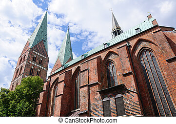 Luebeck, Germany - StMarys Church of the Hanseatic city of...