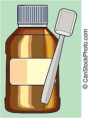 SMALL BOTTLE FOR MEDICINE PATTERN - Capacity for liquid...