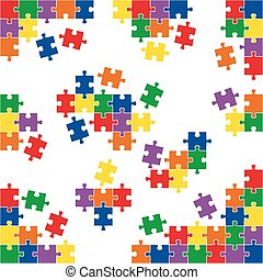 puzzle parts and corners - different colored puzzle corners...