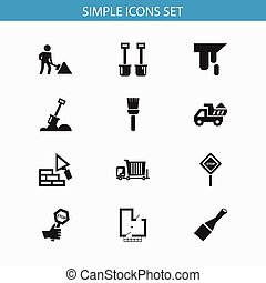 Set Of 12 Editable Structure Icons. Includes Symbols Such As Endurance, Blueprint, Caution And More. Can Be Used For Web, Mobile, UI And Infographic Design.