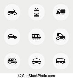 Set Of 9 Editable Shipment Icons. Includes Symbols Such As...