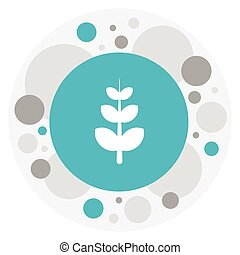 Vector Illustration Of Agriculture Symbol On Frond Icon. Premium Quality Isolated Leaves Element In Trendy Flat Style.