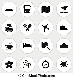 Set Of 16 Editable Holiday Icons. Includes Symbols Such As...
