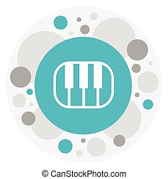 Vector Illustration Of Sound Symbol On Octave Icon. Premium Quality Isolated Piano Element In Trendy Flat Style.