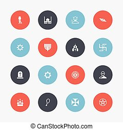 ser, lata, jogo, móvel, sinal, ícones, 16, editable, usado,...