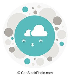Vector Illustration Of Weather Symbol On Snowcapped Icon....