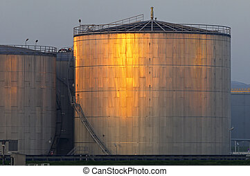 Oil storage - High Dynamic Range impression of an oil...