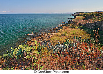 Vasto, Abruzzo, Italy: coast of the Adriatic sea - Punta...