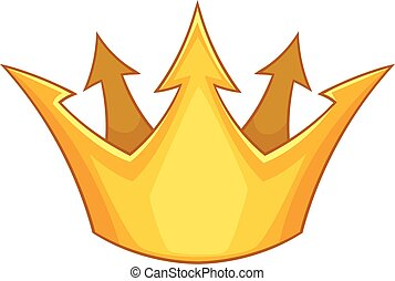 Prince crown icon, cartoon style