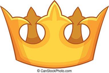 ícone, estilo, coroa, caricatura, visconde
