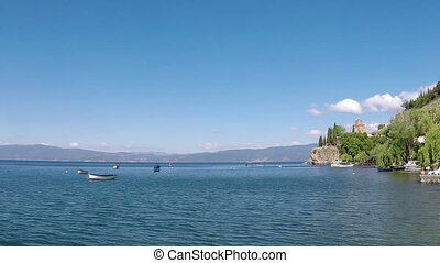 Ohrid lake landscape Macedonia