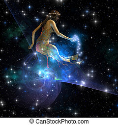 CELESTA - Celesta, spirit creature of the universe, spreads...