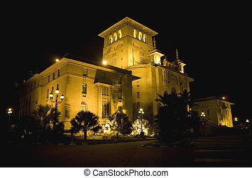 Old Building at Night - The Johore State Secretariat...