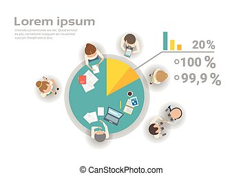 Group Of Business People Working Together On Financial...