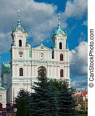 The Cathedral Of St Francis Xavier in City Center in Grodno....