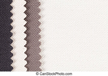 Composition of colored vertical stripes of serrated cotton...