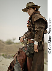 cowboy - handsome man in cowboy clothes