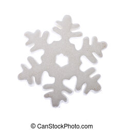 Snow Flake Ornament, photo on the white background