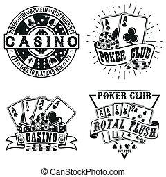 vintage logo design - Set of Vintage casino logo designs,...