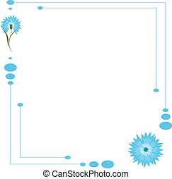 Blue flower cornflower isolated on white background. Cartoon...