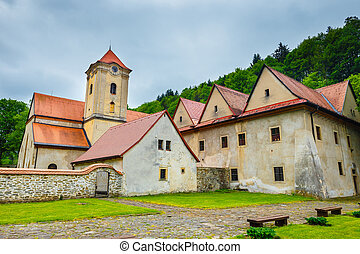 Famous Red Monastery called Cerveny Klastor in Pieniny...