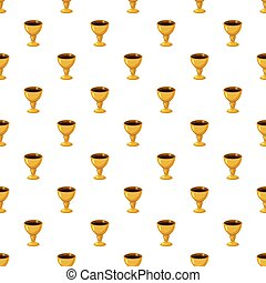 Holy Grail pattern seamless repeat in cartoon style vector...