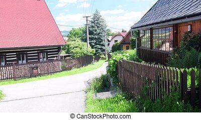 Rural house in the Czech village. Old rustic house. - Rural...