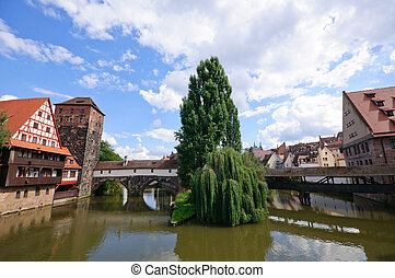 Nuremberg, Germany - Old Town of Nuremberg, Bavaria, Germany